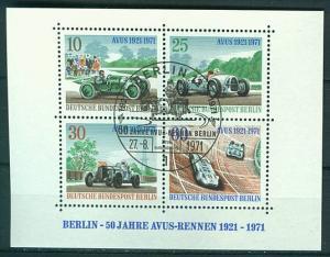 Berlin Block 3 Sonderstempel Avus K1-1342