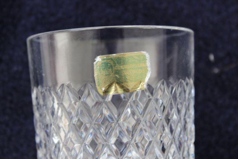 4 Kristall Whiskeygläser Whiskyglas Tumbler Rautenmuster