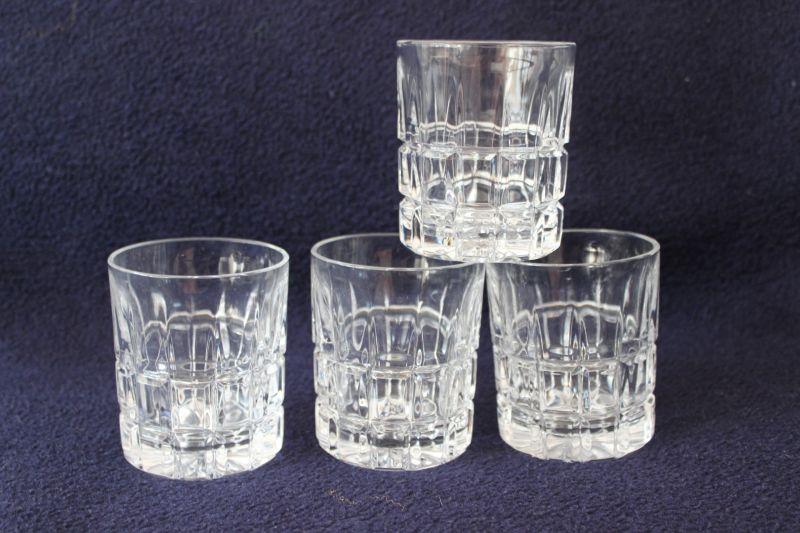 4 Kristall Whiskeygläser Whiskyglas Tumbler