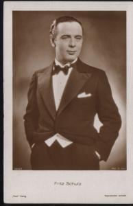 Fritz Schulz actor movie star - postcard
