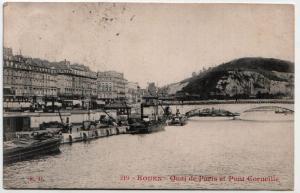 Rouen - Quai de Paris et Pont Corneille