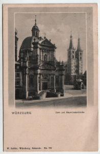 Würzburg - Dom und Neumünsterkirche - 1909