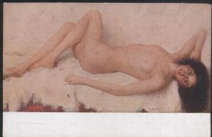 NAKED WOMAN PAINTING