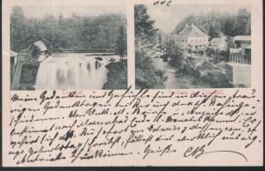 Österreich . Traunfall . Basthaus zum Traunfall / 1898-1900 Ansichtkarte