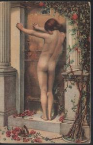 ORIGINAL ART NOUVEAU WOMAN EROTIQUE