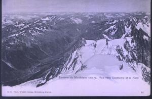 Sommet du Montblanc - Vue vers Chamonix et le Nord