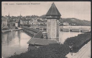 Suisse - Luzern - Kapellbrücke und Wasserturm – 1912