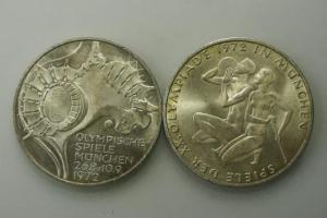 2X 10 MARK 1972 OLYMPISCHE SPIELE MUENCHEN
