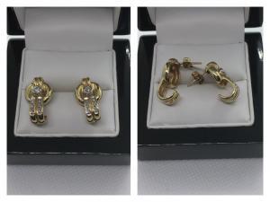 Fantastische Diamantohrstecker in 585 Gold- ca. 0,2 ct