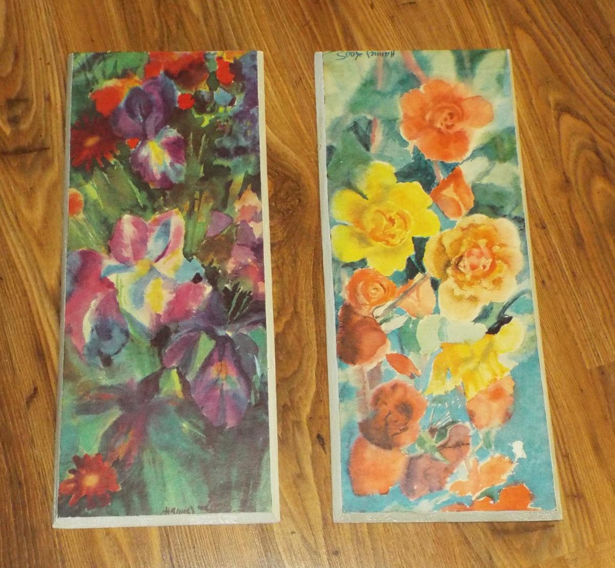 2 Blumenbilder - signiert \