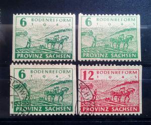Provinz Sachsen 85-86 B Zahn. mit 85 Wb B **
