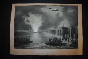 Die Belagerung von Venedig - Lithographie 1850