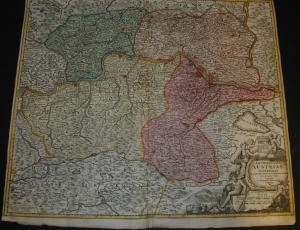 Niederösterreich – Altkolorierte Karte von Homann – Nürnberg um 1730