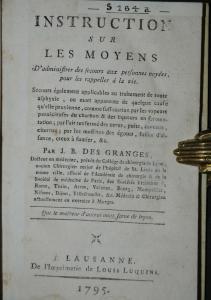 Des Granges u. Perey – 3 französische medizinische Werke - 1795-1812