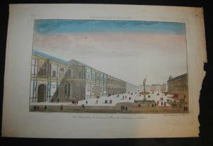 Sevilla – Place de St. Francois – Altkolorierter Kupferstich – Ca 1780