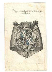 Wappen des Churfürstens und Hertzogs zu Bayern – Kupferstich 1756