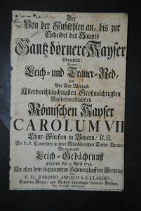 Josephus Angelus - Leichenrede für Kaiser Karl VII. - München 1745