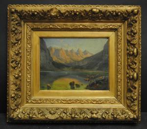 Ölbild  - Der Obersee bei Berchtesgaden - ca. 1865