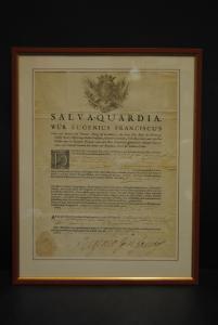 Prinz von Savoyen - Schutzbrief (Salva-Quardia) für die Abtei Kortenberg - 1710