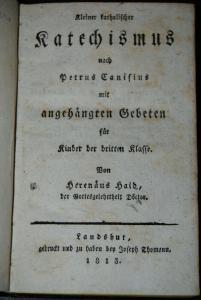 Haid - Kleiner katholischer Katechismus - 1813