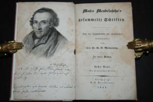 Mendelssohn - Gesammelte Schriften - 8 Bände - Leipzig 1843-1845