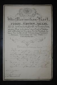 Beförderungsdekret f. den fürstl. Domainenrath Carl A. Kleinschmidt - 1841
