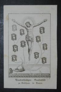 Walldürn – Gnadenbild und Gebete – Wallfahrt – Stahlstich um 1859