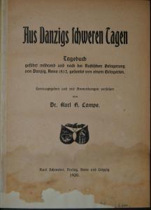 Lampe – Aus Danzigs schweren Tagen – Belagerung 1813 - 1920
