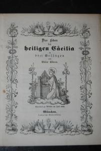 Görres - Das Leben der heiligen Cäcilia in drei Gesängen - 1842