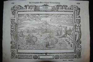 Münster - Holzschnitt - Der Königlichen Statt Neapels Abcontrafechung - ca. 1580