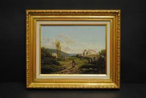 Donnini, Emilio - Italienische Landschaft - Ölbild - Ca. 1850