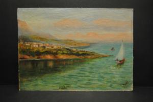 Alupka (Krim) - Ansicht - Öl auf Pappe - Ca. 1930