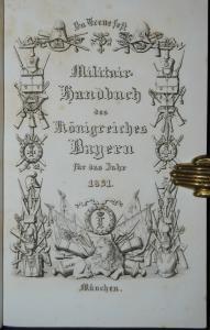 Militär-Handbuch des Königreiches Bayern  für 1831 - Wittelsbacher