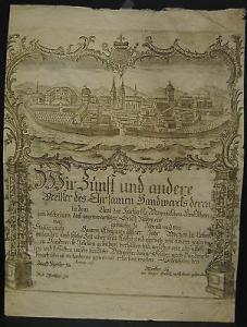 Geisenheim – Handwerkerkundschaft – Kupferstich um 1810