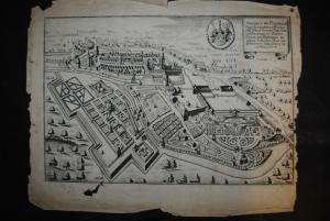 Kupferstich -Prospect Heinrici Hertzogen zu Sachsen Engern - 1650