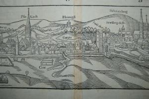Holzschnitt - Fuldensis ciuitatis & celeberrimae - um 1580