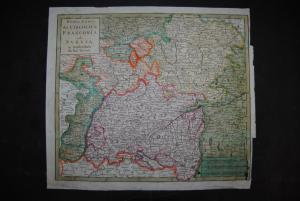 Kupferstichkarte - Nuova Carta del Circolo di Franconia e di Suevia - 1738