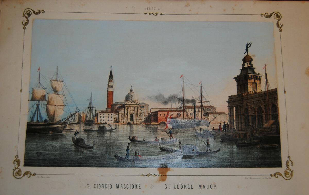 Moro – Vedute di Venezia – 1870 – Album mit 14  kolor. Lithographien 0