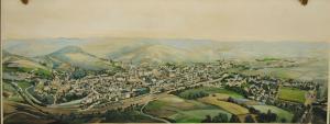 Graslitz – Kraslice – Kolorierte Gesamtansicht – 190