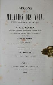Sanson -  Lecons sur les maladies des yeux – Paris 1838
