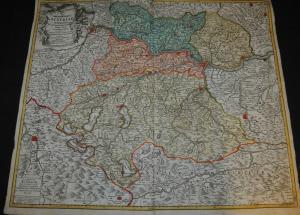 Karte von Oberösterreich, Koloriert – 1740 – Kupferstich Nürnberg Homann