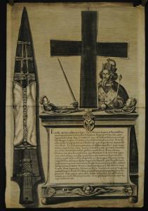 Reichskleinodien - Einblattdruck - Kupferstich - Nürnberg ca. 1670