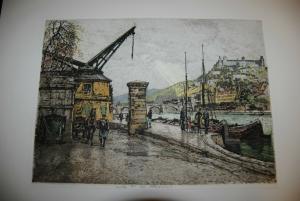 Würzburg – Festung Marienberg – Farbradierung von Tanna Kasimir-Hoernes – 1930