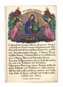 Wallfahrt St. Maria Langegg - Altkolorierter Kupferstich - St. Pölten 1830