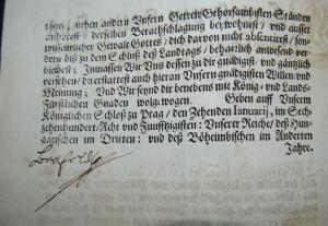 Leopold I. - Gedrucktes Mandat mit eigenhändiger Unterschrift des Kaisers - 1658