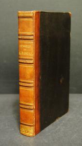 Pascal – Pensées – Paris 1853 – Halblederband der Zeit
