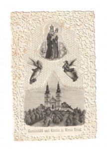 Wallfahrt Maria Trost (Steiermark) - Stanzbild mit Stahlstich 1880