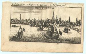 """Rotterdam - Kupferstich von Riegel – aus """"der Rheinstrom"""" - um 1690"""
