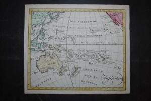 Altkolorierte Kupferkarte - Australien - 1803