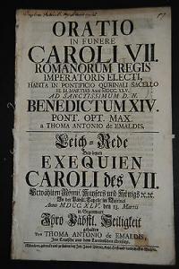Emaldis – Leich-Rede auf Kaiser Karl VII. - München 1745